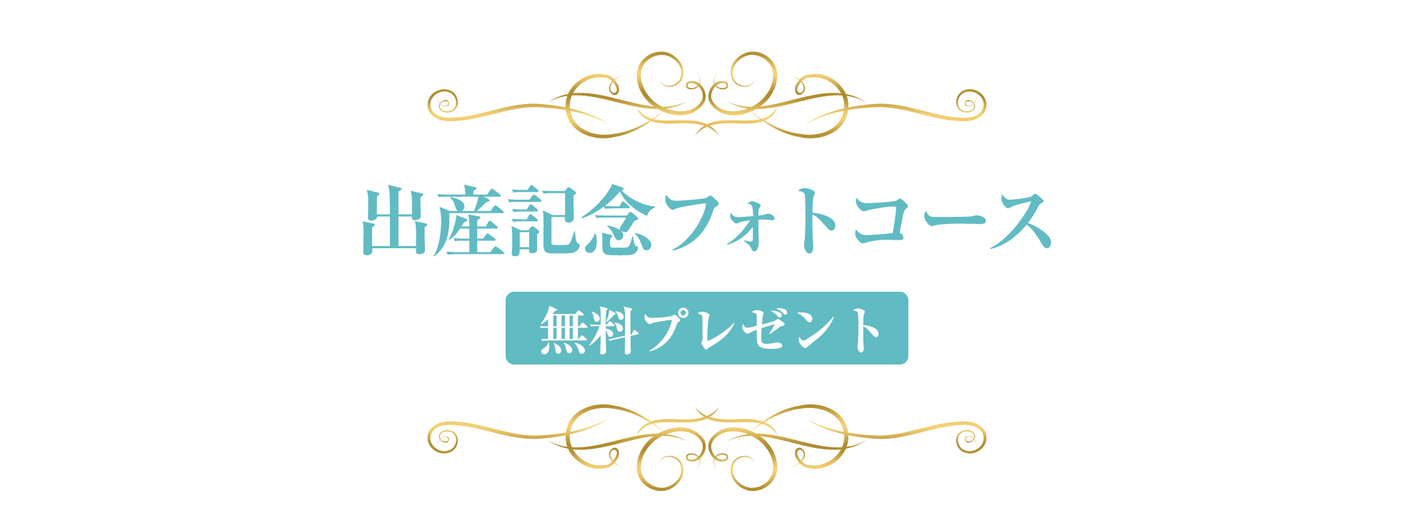 出産記念フォトコース [無料プレゼント]